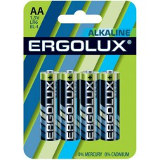 Бат. АА 1,5V, алкалин, Ergolux