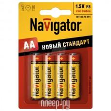 Бат. АА 1,5V, соль, Navigator