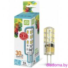 Лампа LED G4, 3Вт, 12В 4000К ASD