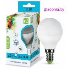 Лампа LED Е14 Шар 3,5Вт,220V 4000К ASD