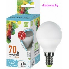 Лампа LED Е14 Шар 7,5Вт,220V 4000К ASD