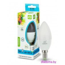 Лампа LED Е14 Свеча 5Вт,220V 4000К ASD