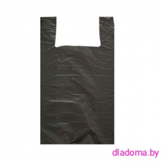 Пакет майка черная (100шт)