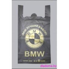 Пакет майка черная BMW (100шт)