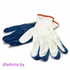 Перчатки синтетика (синие)